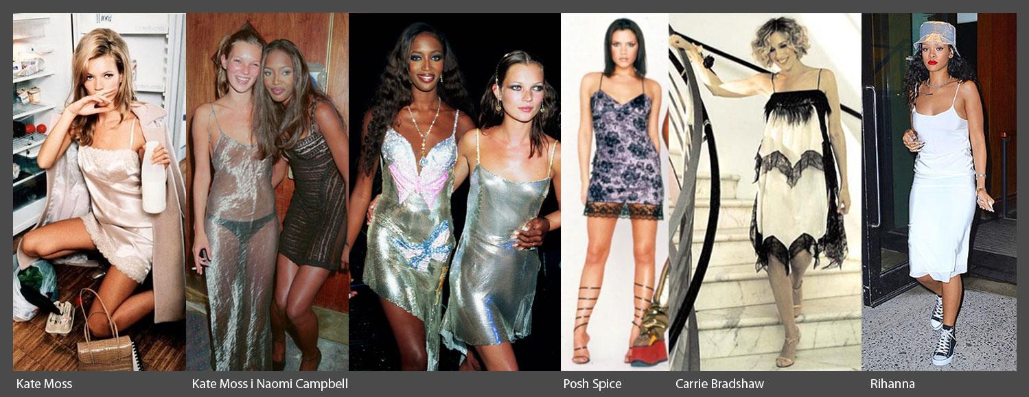 Topowe gwiazdy lat 90. w sukienkach typu halka