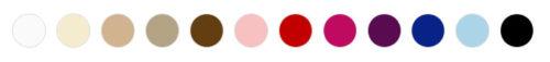 Paleta kolorów biustonosza Virginia