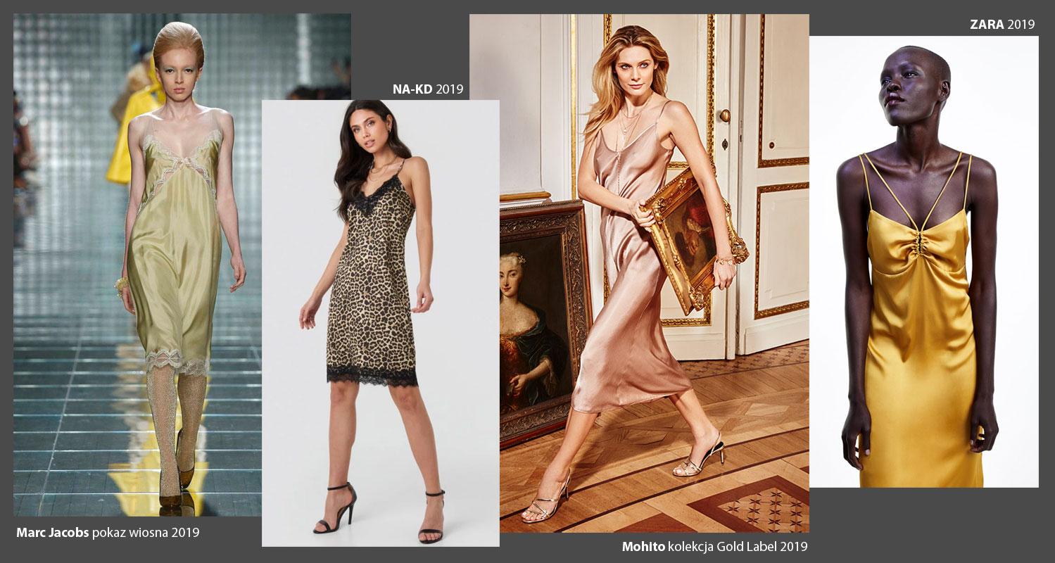 Sukienka bieliźniana w sklepach, w sezonie letnim 2019
