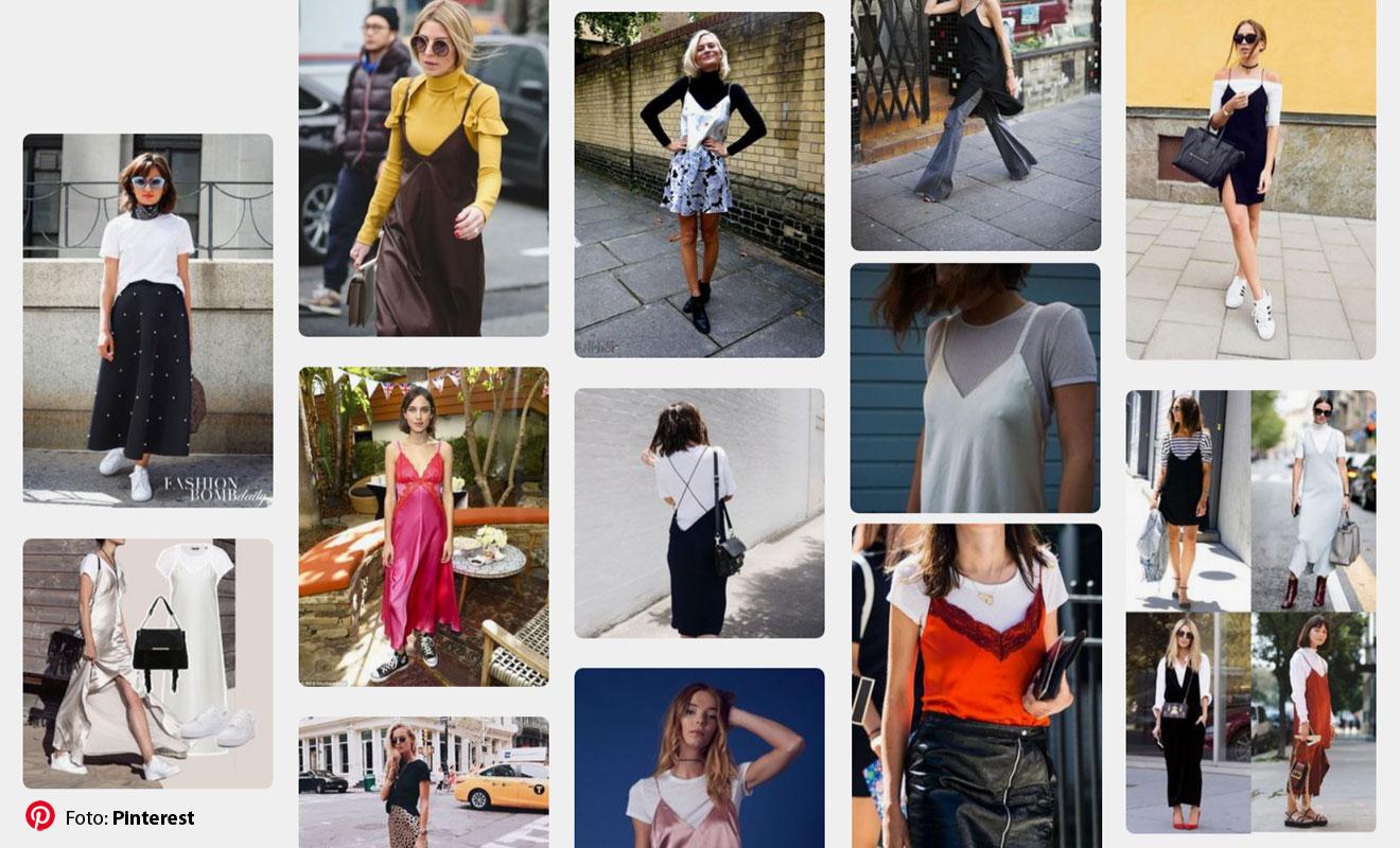 Sukienka-halka w stylizacjach na Pinterest