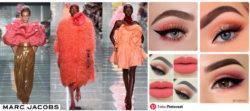 Zainspirowane kolorem koralowce projekty M. Jackobsa i makijaże na Pinterest