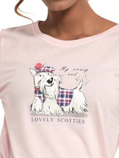 Cornette piżama damska 627/229 scottie