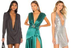 Sukienki z bardzo głebokim dekoltem na piersiach